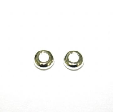 200pcs x 3mm Silver plated round closed ring - S.F10 - WC251 - 4000048